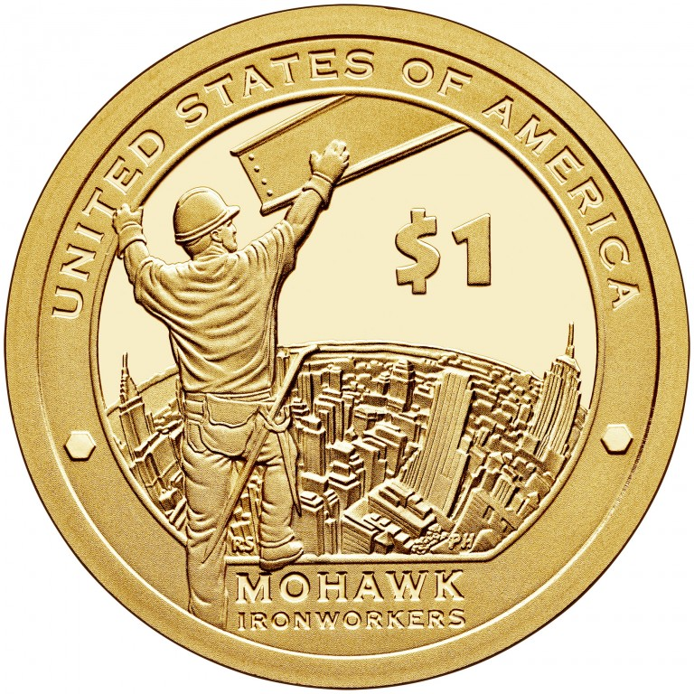 2015 Native American One Dollar Proof Reverse