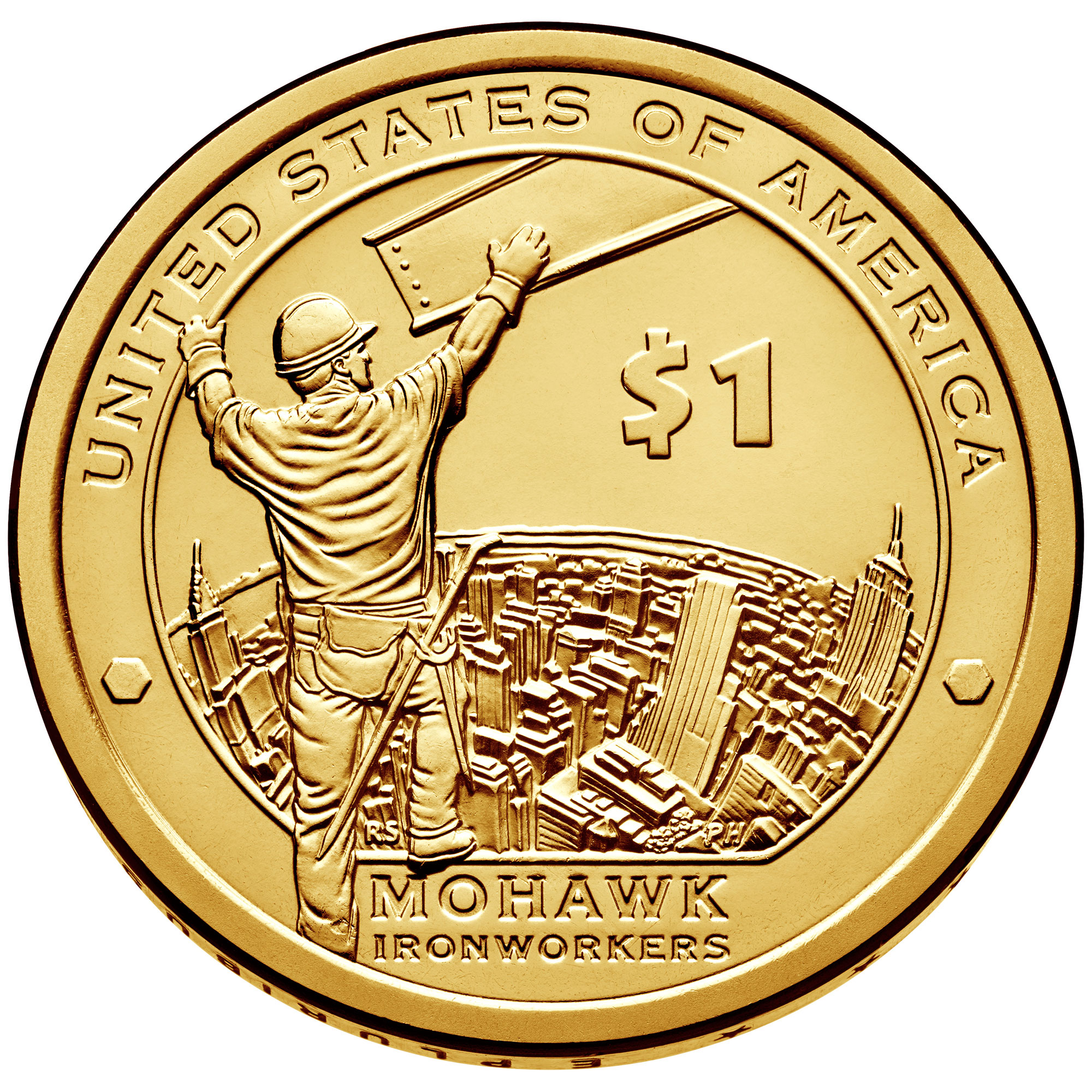 2015 Native American One Dollar Uncirculated Reverse