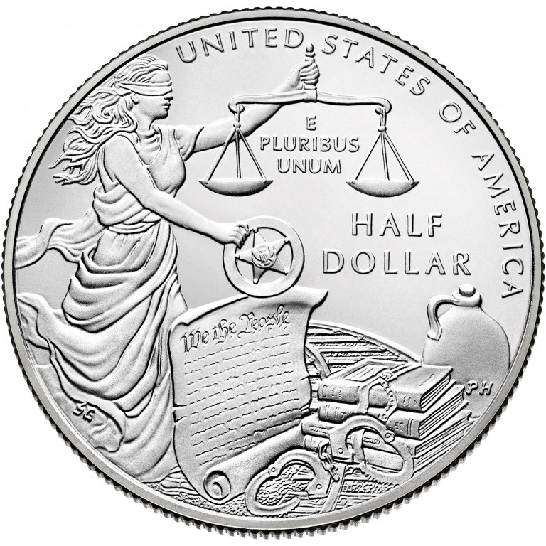 2015 United States Marshals 225Th Anniversary Commemorative Clad Half Dollar Uncirculated Reverse
