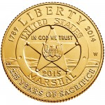 2015 United States Marshals 225Th Anniversary Commemorative Gold Five Dollar Uncirculated Obverse