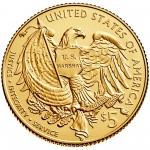 2015 United States Marshals 225Th Anniversary Commemorative Gold Five Dollar Uncirculated Reverse