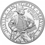 2015 United States Marshals 225Th Anniversary Commemorative Silver One Dollar Proof Reverse