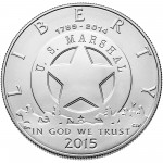 2015 United States Marshals 225Th Anniversary Commemorative Silver One Dollar Uncirculated Obverse
