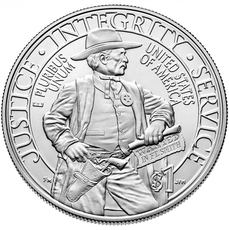 2015 United States Marshals 225Th Anniversary Commemorative Silver One Dollar Uncirculated Reverse