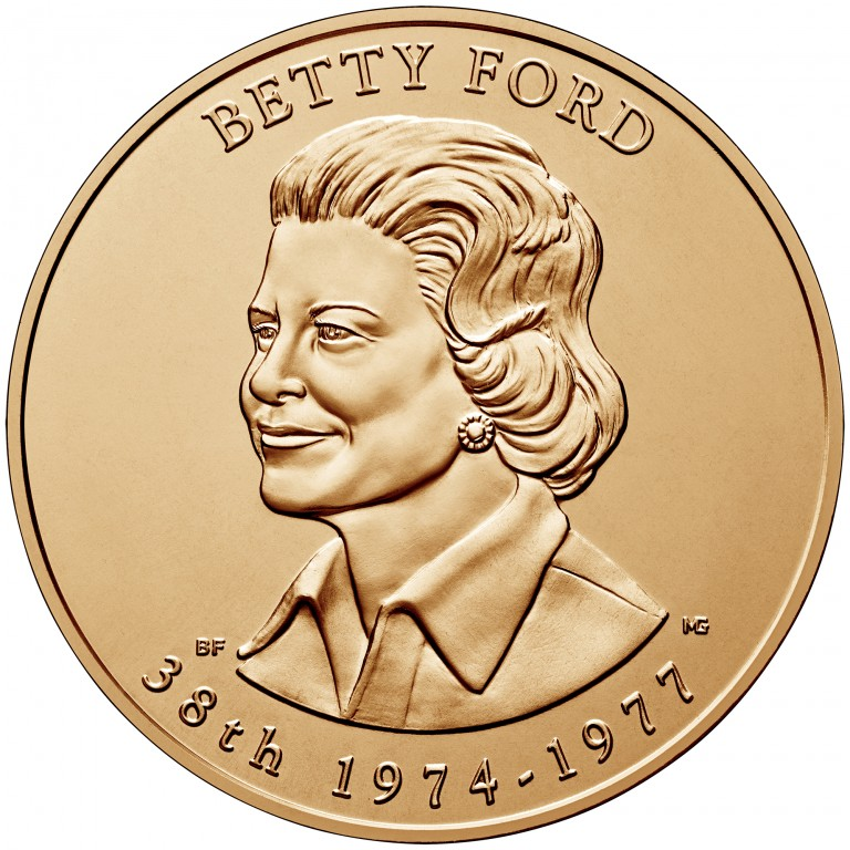 Betty Ford First Spouse Bronze Medal Obverse