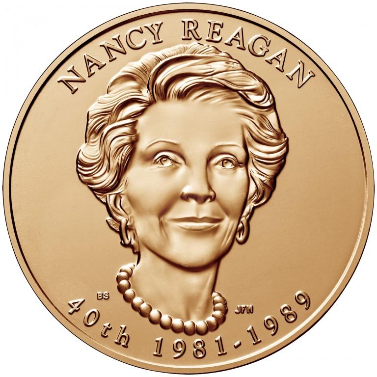 Nancy Reagan First Spouse Bronze Medal Obverse