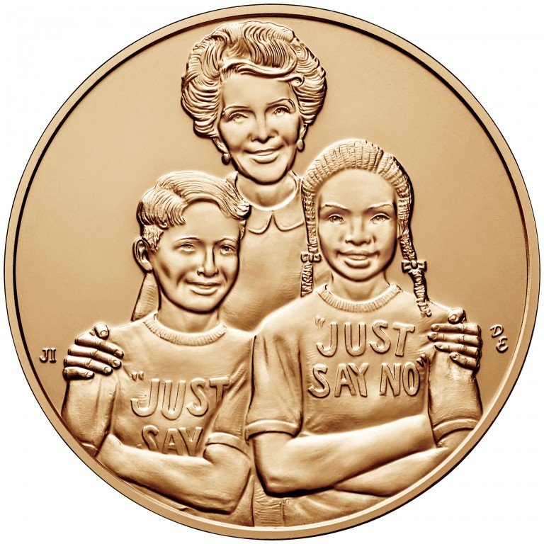 Nancy Reagan First Spouse Bronze Medal Reverse