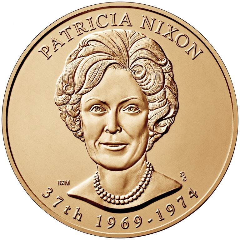 Patricia Nixon First Spouse Bronze Medal Obverse