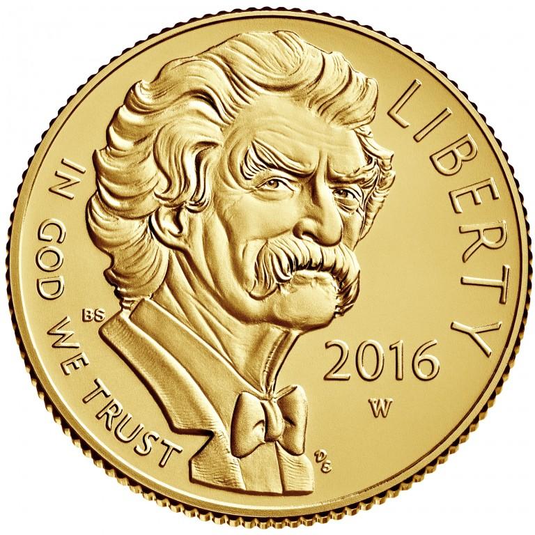 2016 Mark Twain Commemorative Gold Uncirculated Obverse