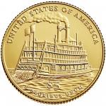 2016 Mark Twain Commemorative Gold Uncirculated Reverse