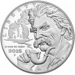 2016 Mark Twain Commemorative Silver Proof Obverse