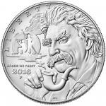 2016 Mark Twain Commemorative Silver Uncirculated Obverse
