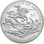 2016 Mark Twain Commemorative Silver Uncirculated Reverse