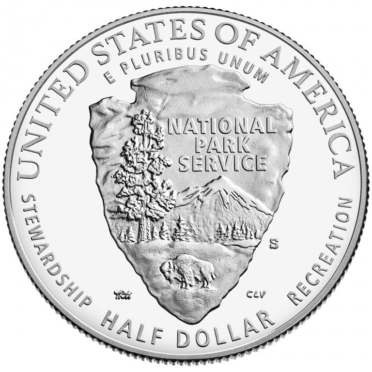 2016 National Park Service Centennial Commemorative Clad Proof Reverse