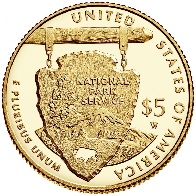 2016 National Park Service Centennial Commemorative Gold Proof Reverse