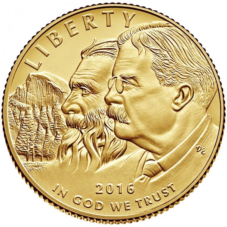 2016 National Park Service Centennial Commemorative Gold Uncirculated Obverse
