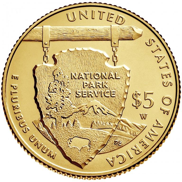 2016 National Park Service Centennial Commemorative Gold Uncirculated Reverse