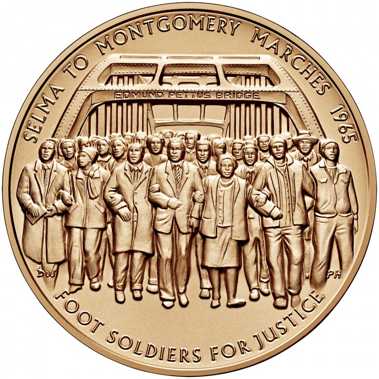 2016 Selma Foot Soldiers Bronze Medal One And One Half Inch Obverse