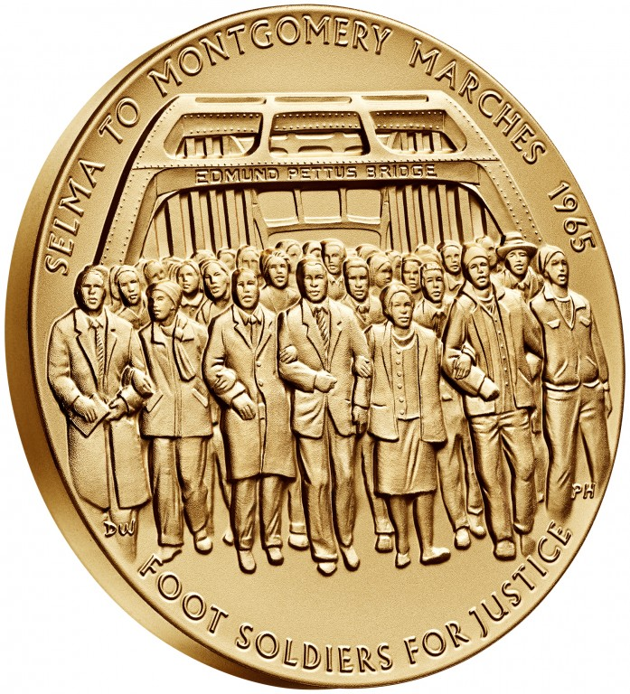2016 Selma Foot Soldiers Bronze Medal Three Inch Obverse Angle