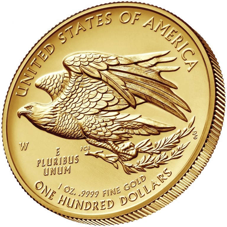2015 American Liberty High Relief Gold Coin Reverse angle