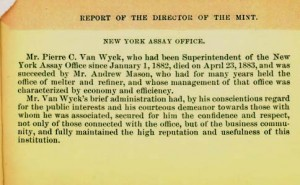 1883 Annual Report excerpt, page 15. Full text is duplicated in the body of this page.
