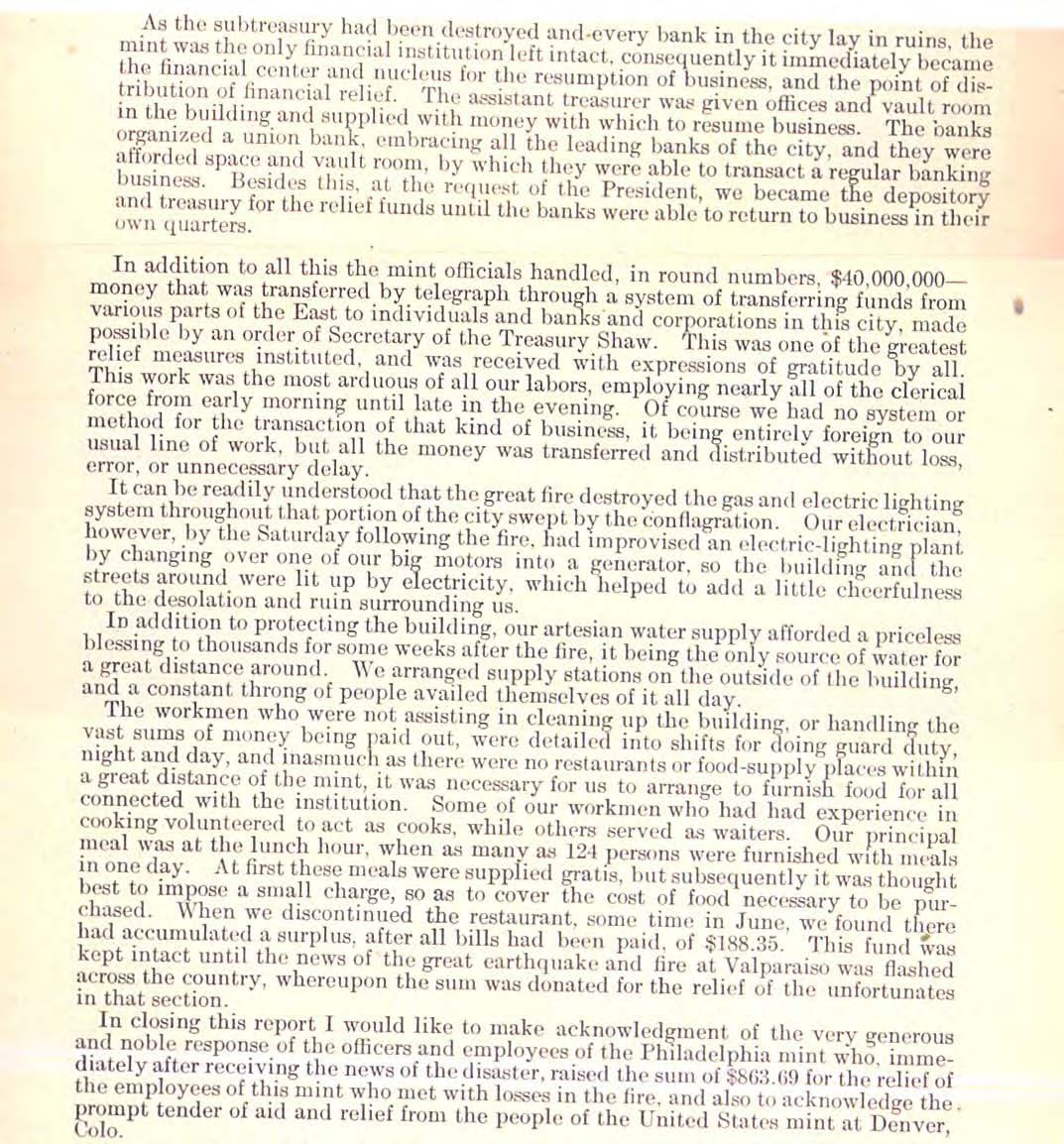 1906 Annual Report Excerpt, Page 43