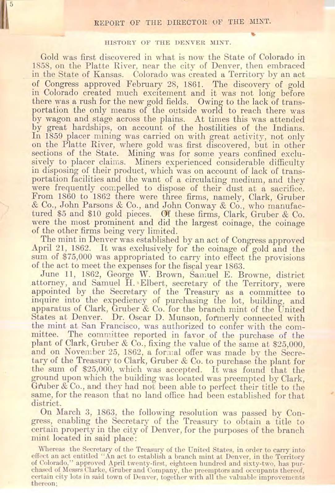 1906 Annual Report Excerpt, Page 5