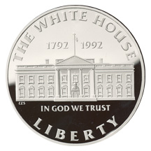 1992 White House 200th Anniversary Silver Dollar Proof Obverse