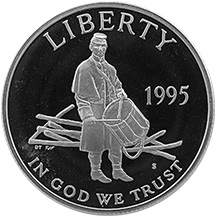 1995 Civil War Battlefield Commemorative Clad Half Dollar Uncirculated Obverse