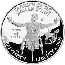1996 Olympics Paralympics Silver Dollar-Obverse