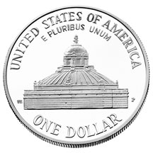 2000 Library of Congress Commemorative Silver Dollar Uncirculated Reverse