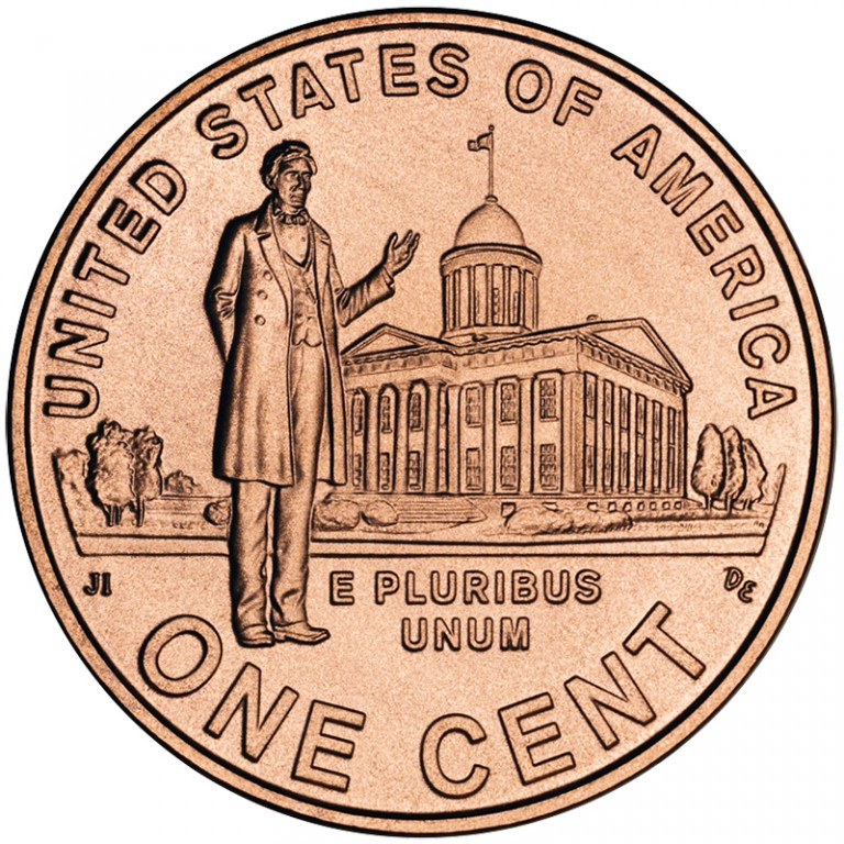 2009 Lincoln Cent Penny Professional Life Illinois Uncirculated Reverse