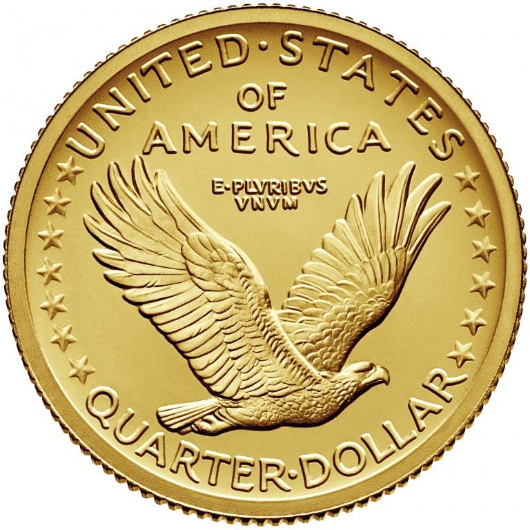2016 Standing Liberty Centennial Gold Coin Reverse