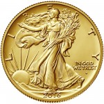 2016 Walking Liberty Centennial Gold Coin Obverse