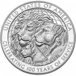 2017 Lions Clubs Commemorative Silver Proof Reverse