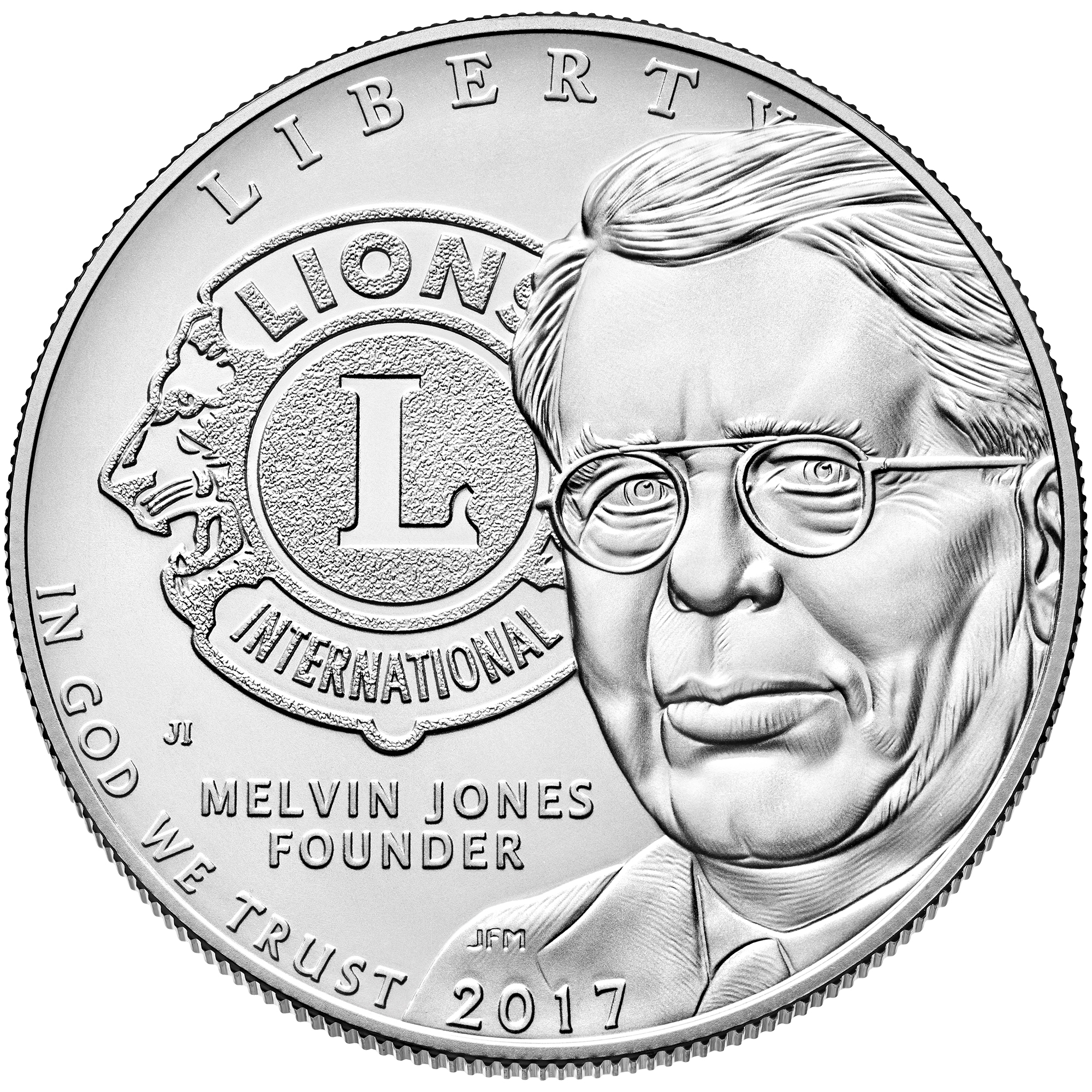 2017 Lions Clubs Commemorative Silver Uncirculated Obverse