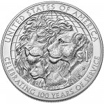 2017 Lions Clubs Commemorative Silver Uncirculated Reverse