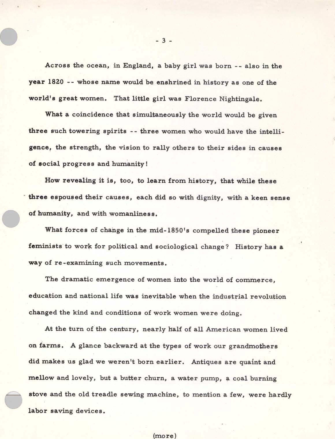 Mary Brooks Remarks at Ceremony for Women's Suffrage Postage Stamp, Page 3