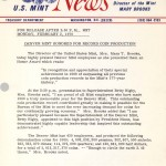Denver Mint Honored for Record Coin Production, February 2, 1970