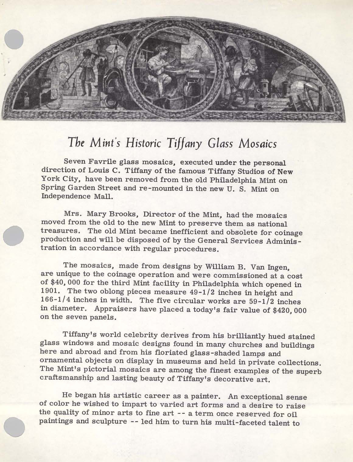 Unveiling Ceremony for Tiffany Mosaics, Page 2