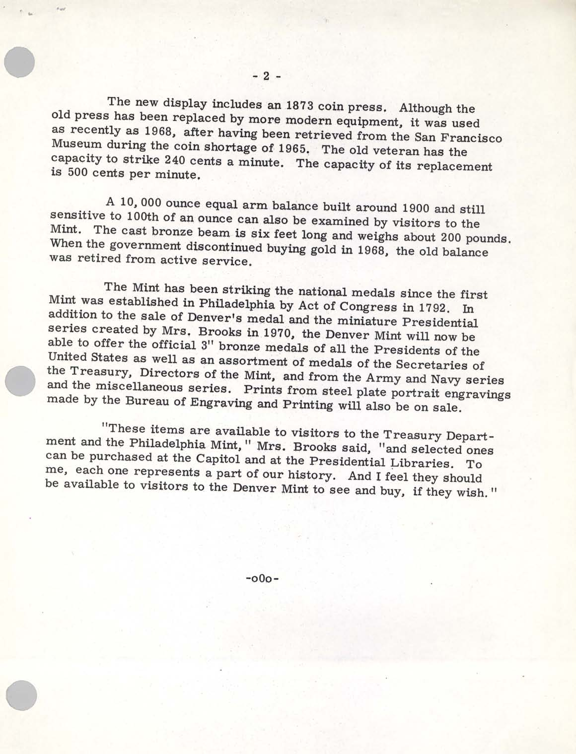 Historic Press Release: Visitors Area Denver, Page 2