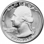 1975 George Washington Bicentennial Quarter Obverse