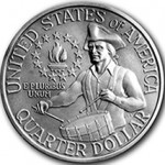 1975 George Washington Bicentennial Quarter Reverse