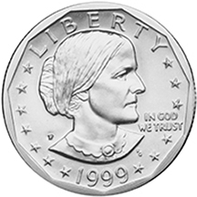 1999 Susan B. Anthony Dollar Obverse