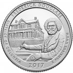 2017 America the Beautiful Quarters Coin Frederick Douglass District of Columbia Proof Reverse