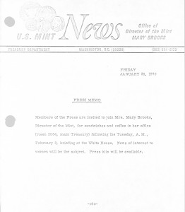 Historic Press Release, January 30, 1970. Full text is duplicated in the body of this page.