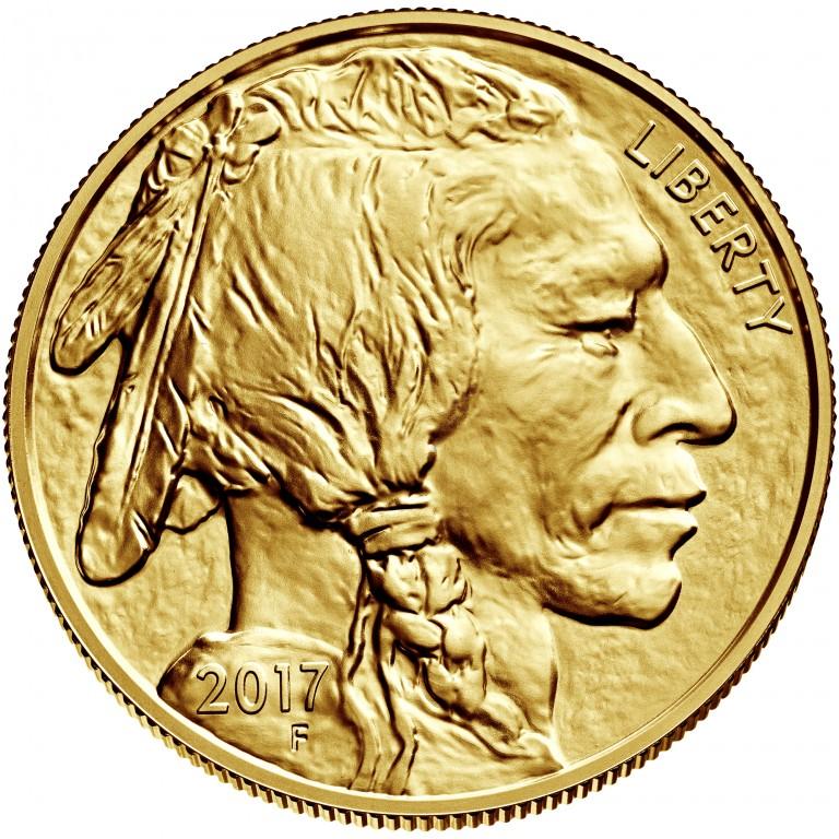2017 American Buffalo Gold One Ounce Bullion Coin Obverse
