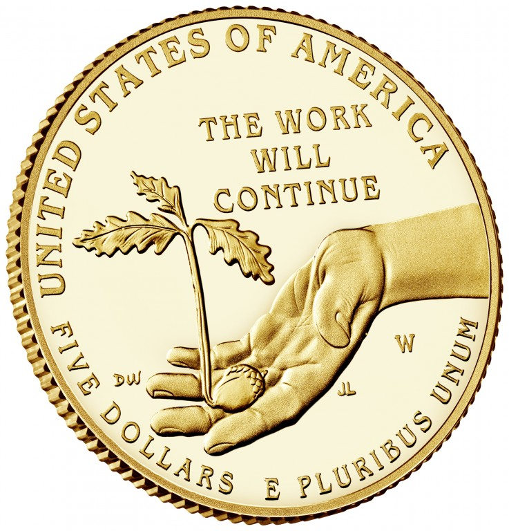 2017 Boys Town Commemorative Gold Proof Reverse Angle