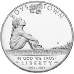 2017 Boys Town Commemorative Silver Proof Obverse