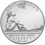 2017 Boys Town Commemorative Silver Uncirculated Obverse